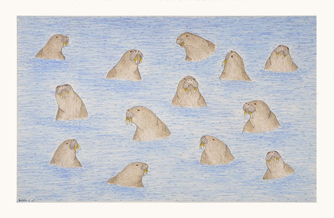 Untitled (Walruses), Cape Dorset  2016
