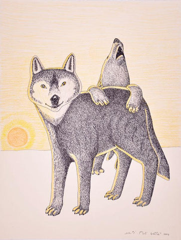 Untited (Wolf and Howling Bear)