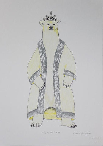 King Of The Arctic by Olooreak Etungat 100 Artist from Cape Dorset, 2018