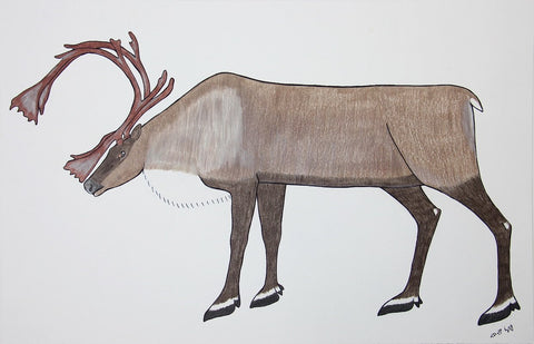 Untitled (Caribou) by Pauojoungie Saggiak 225 Artist from Cape Dorset, 2016