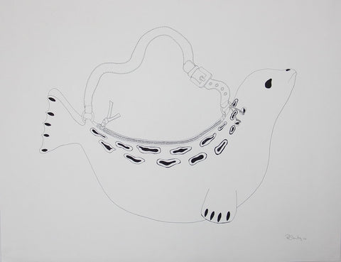 Untitled (Seal Bag) by Rebecca Hutchings 275 Artist from Cape Dorset, 2014