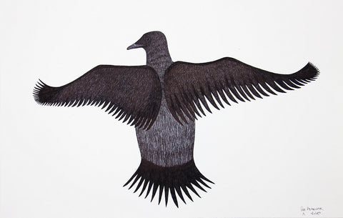 Untitled (Flying Bird) by Pee Ashevak 113 Artist from Cape Dorset, 2017