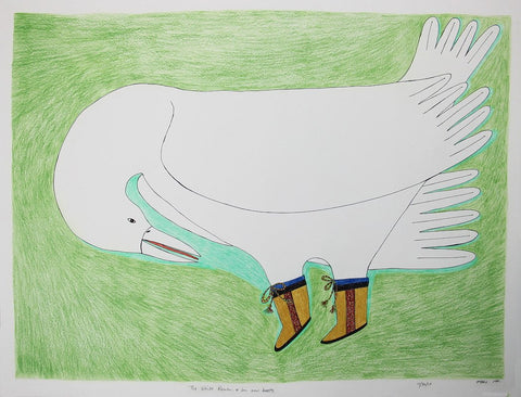 The White Raven & Her New Boots by Ningiukulu Teevee