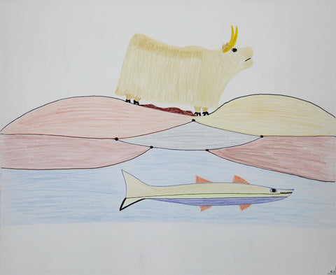 Untitled (Muskox & Fish)