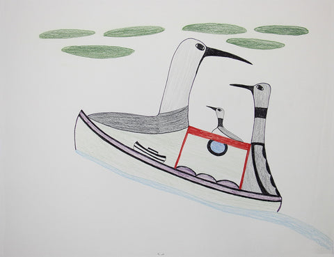 Untitled (Loon on Boat)