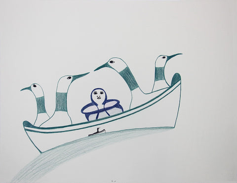 Untitled (Canoeing with Loons)