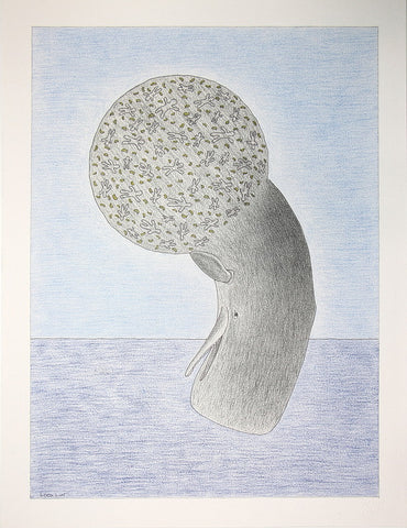 Untitled (Diving Whale)