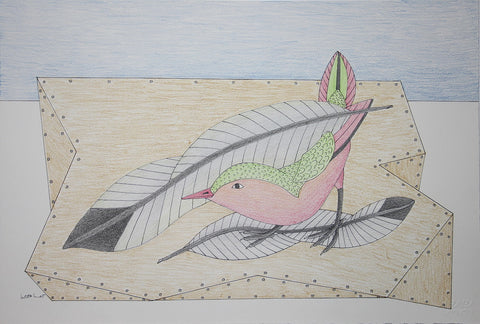 Untitled (Bird with Leaves)