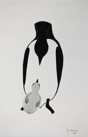 Untitled (Penguin Mother and Chick)