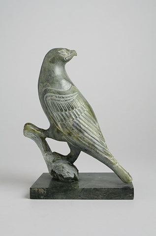 Falcon on Base by Abraham Anghik Ruben, OC Inuit Artist from Paulatuk