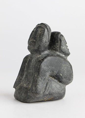 Mother and Child by Luke Hallauk Inuit Artist from Eskimo Point