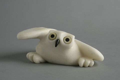 Owl by Joanasie Manning Inuit Artist from Cape Dorset