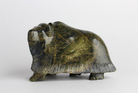 Serpentine Muskox by Pudlalik Shaa Inuit Artist from Cape Dorset