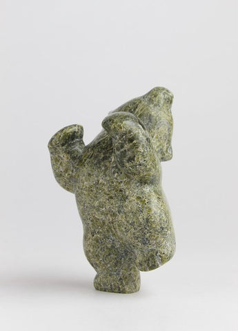 Serpentine Dancing Bear by Markoosie Papigatok Inuit Artist from Cape Dorset