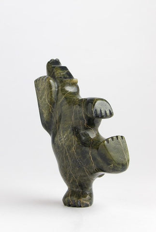 Serpentine Dancing Bear by Johnny Papigatok Inuit Artist from Cape Dorset