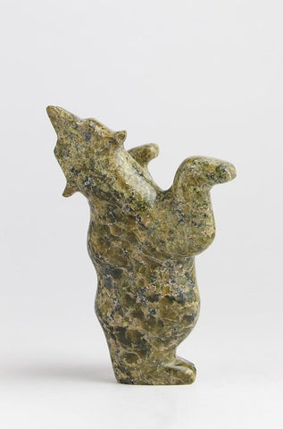 Serpentine Dancing Bear by Ulamie Tunnillie Inuit Artist from Cape Dorset