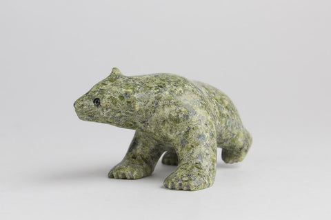 Serpentine Bear by Alashua Sharky Inuit Artist from Cape Dorset