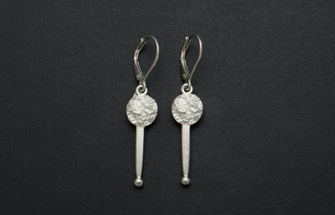 Full Moon Earrings With Stick (Drop)