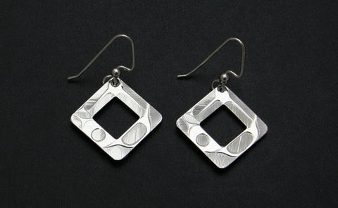 Square Cutout Abstract Earrings