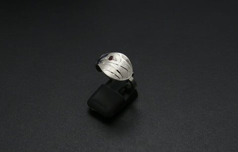 Spoon-Shape Eagle Ring with Square Shank