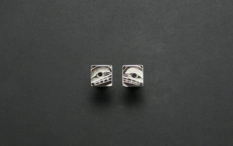 Square Orca Stud Earrings