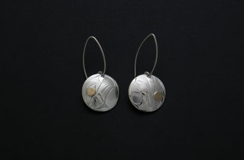 Round Eagle Earrings
