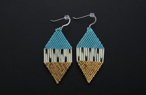 Diamond-Shaped Earrings (Turquoise)