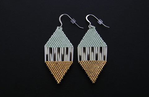 Diamond-Shaped Earrings (Sage)
