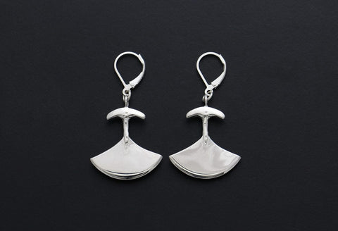 Silver Ulu Earrings by Mathew Nuqingaq Inuit Artist from Rankin Inlet