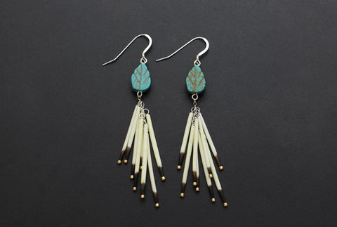 Fireworks Earrings (White)