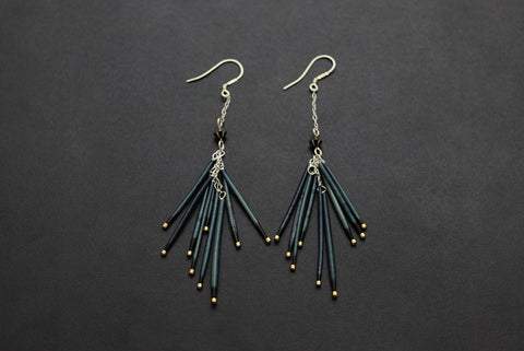 Fireworks Earrings (Navy)