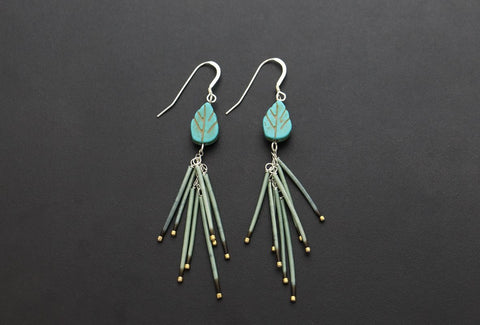 Fireworks Earrings (Sage)