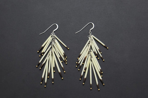 Porcupine Tail Earrings