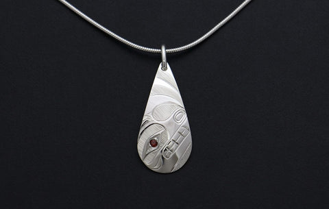 Teardrop Bear Pendant