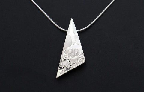 Triangle Wolf Pendant
