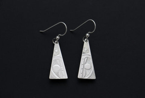Triangle Whale Earrings