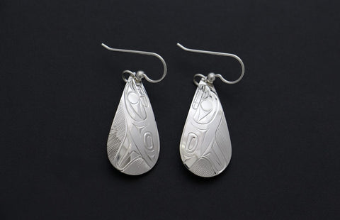 Teardrop Whales Earrings