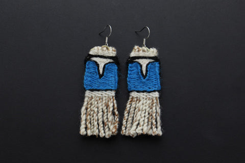 Blue Chilkat Earrings