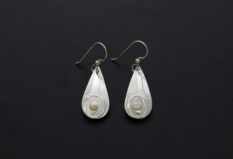 Hummingbird Teardrop Earrings