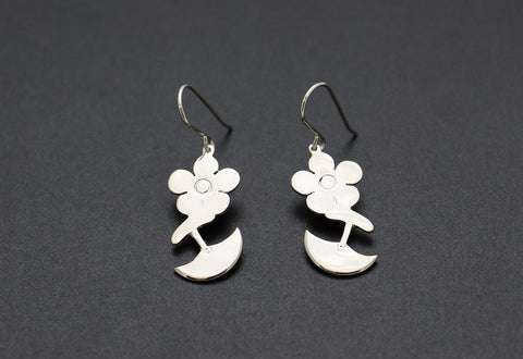 Ulu and Flower Earrings