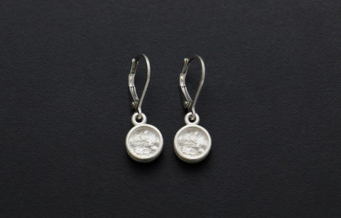 Full Moon Drop Earrings wirh Rim