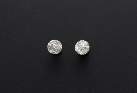 Full Moon Stud Earrings