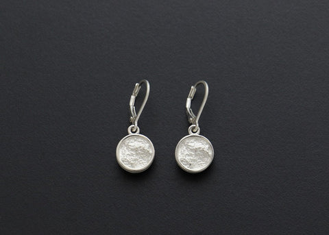 Full Moon with Rim Drop Earrings