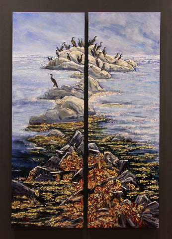 Cormorant Perch (Diptych)