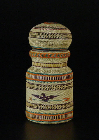 Coffee Jar With Lid (Bird & Arrow) Circa 1970