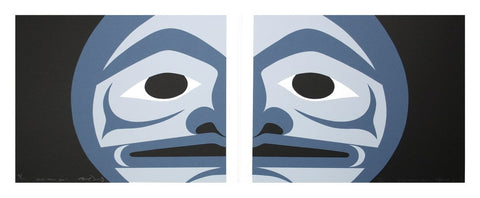 Blue Moon Too (diptych), 2005