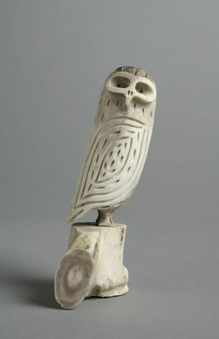 Owl by Pudloo Oarlooktoo Inuit Artist from Iqaluit