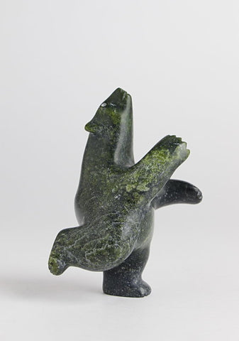 Dancing Bear by Alasuaq Sharky Inuit Artist from Cape Dorset