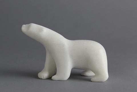 Walking Bear by Ashevak Tunnillie Inuit Artist from Cape Dorset