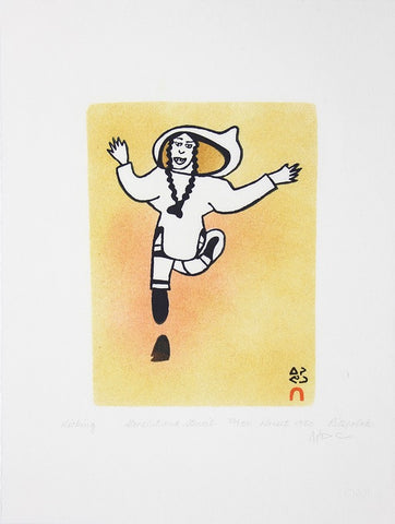Kicking, Cape Dorset  1984
